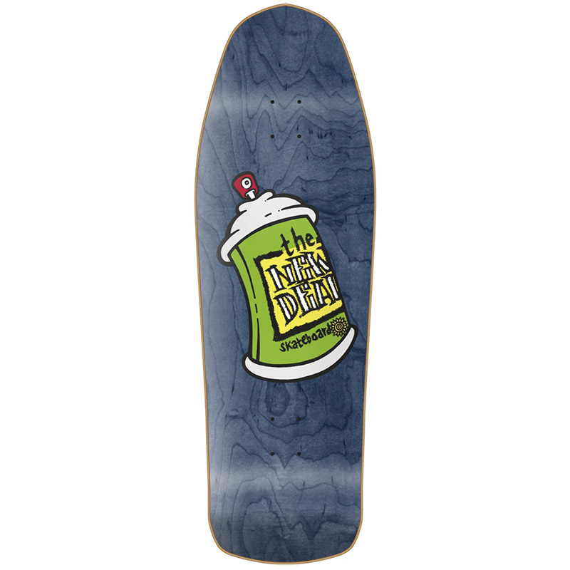 New Deal Spray Can HT Skateboard Deck Blue 9.75