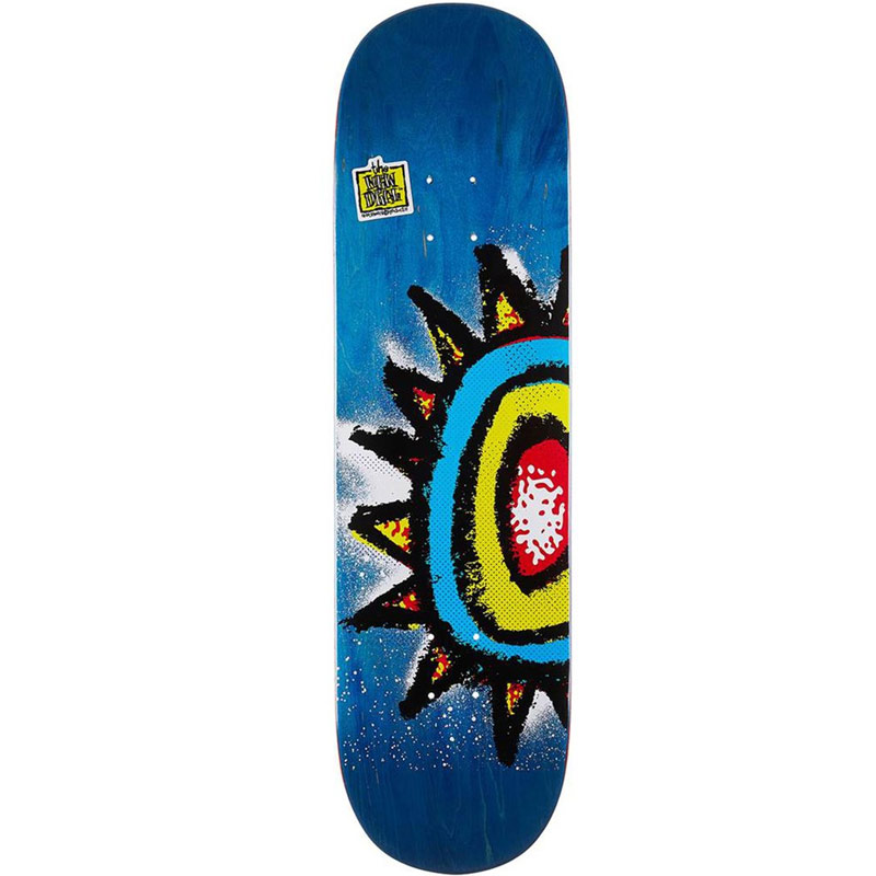 New Deal WTF Sun 90's Shallow Popsicle Skateboard Deck 8.75