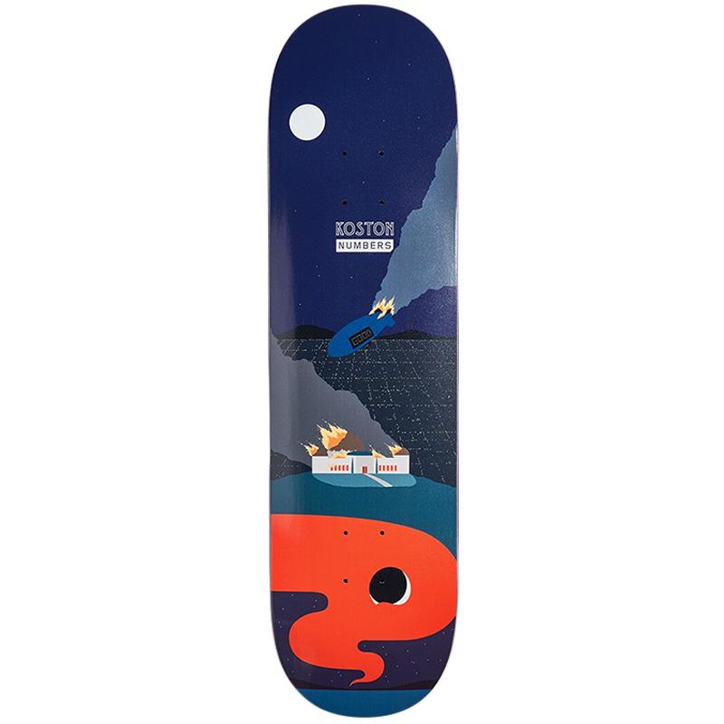 Numbers Kosten Skateboard Deck 8.5