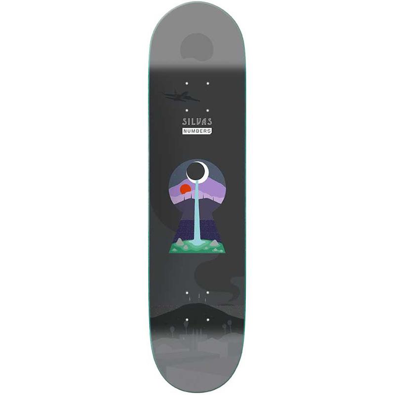 Numbers Silvas Skateboard Deck 8.25