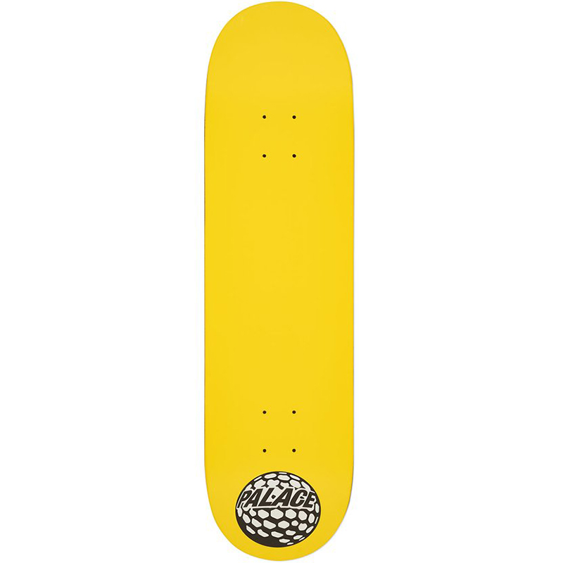 Palace Golfball Skateboard Deck Yellow 8.2
