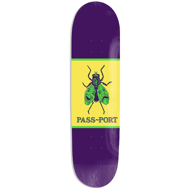 Pass Port Animal Series Laugh Now Fly Later Skateboard Deck 8.25