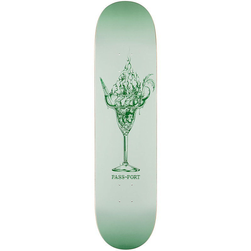 Pass Port Burning Series Drinks Skateboard Deck 8.25