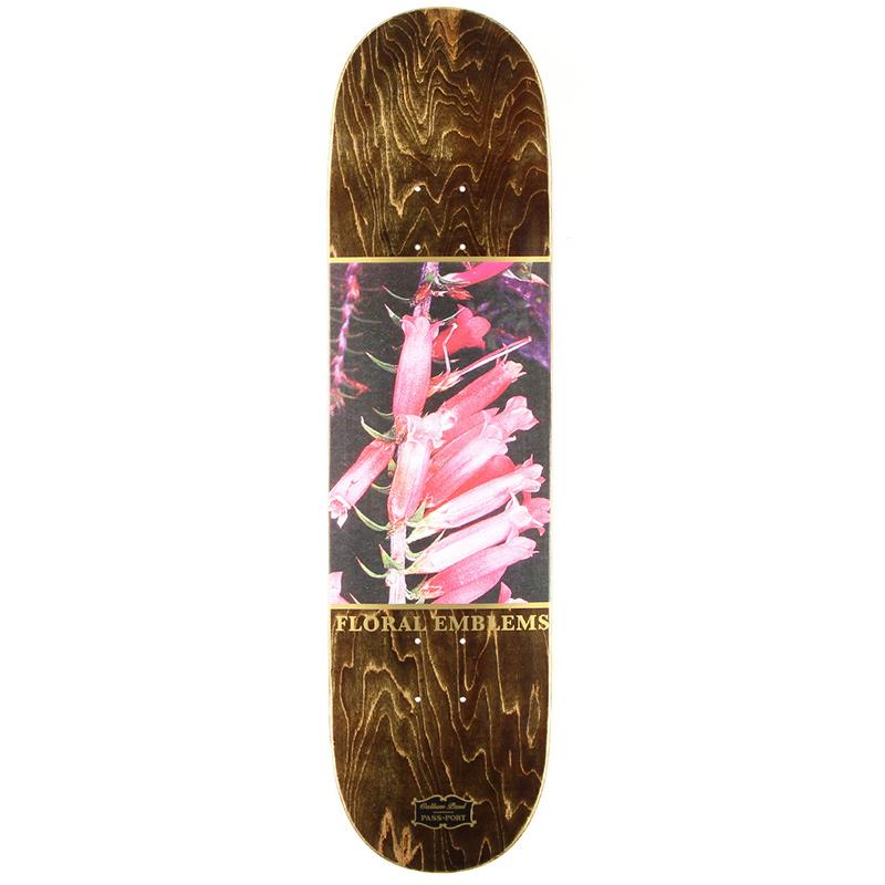 Pass Port Callum Paul Floral Emblems Skateboard Deck 8.25