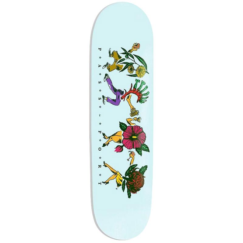 Pass Port Floral Friends Series Sky Skateboard Deck 8.0