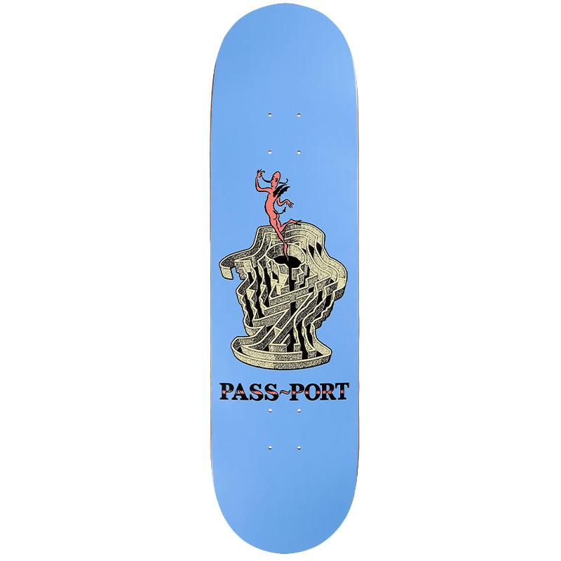 Pass-Port Maze Series Head Skateboard Deck 8.5