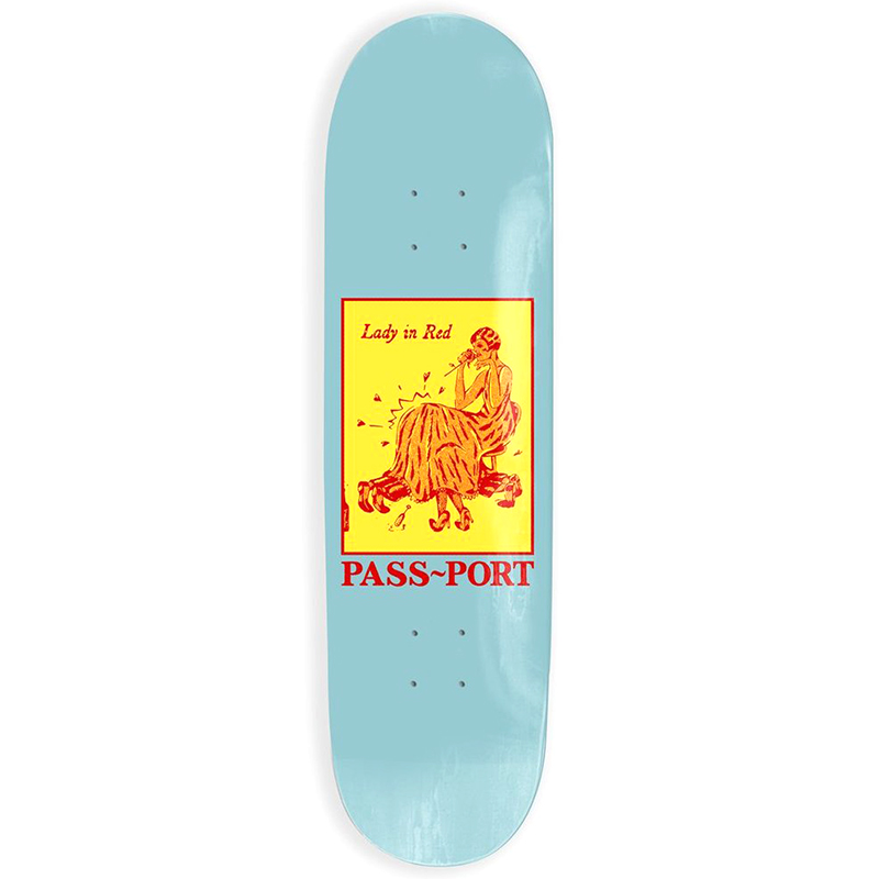 Pass Port Pozter Lady In Red Skateboard Deck 8.0