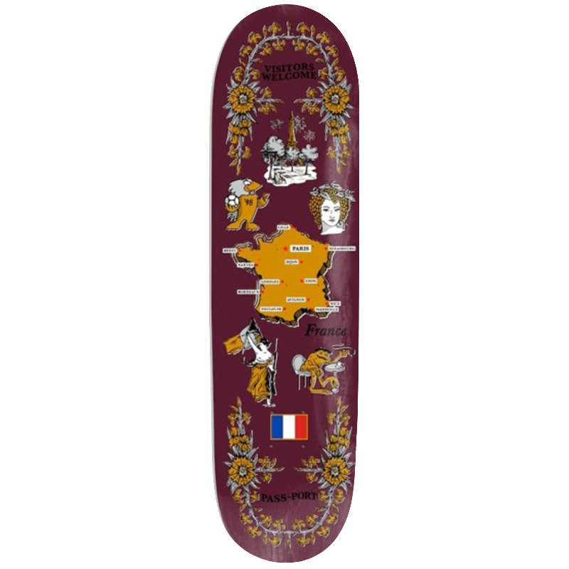 Pass Port Tea Towel Series France Skateboard Deck 8.125