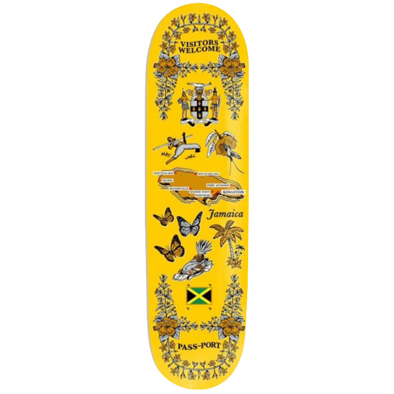 Pass Port Tea Towel Series Jamaica Skateboard Deck 8.0