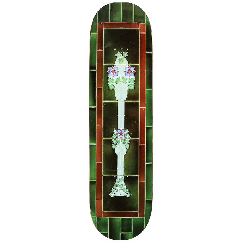 Pass Port Tile Life Skateboard Deck Green 8.38