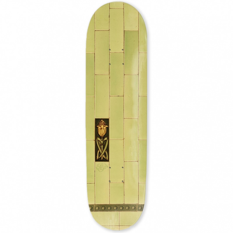 Pass Port Tile Life Skateboard Deck Lime 8.0