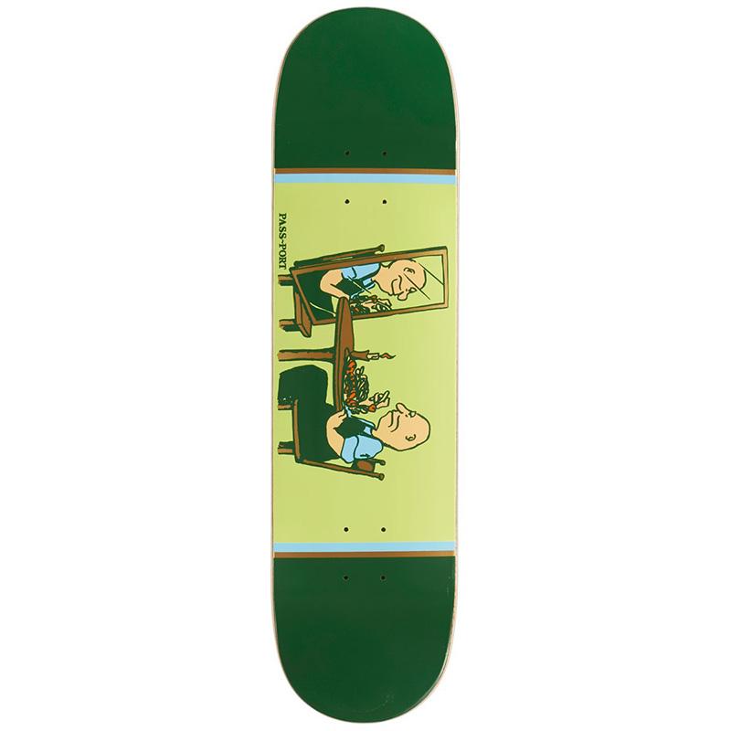 Pass-Port Unlucky in Love Series Dinner For One Skateboard Deck 8.125