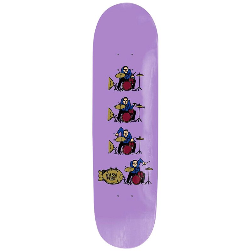 Pass-Port What U Thought Drums Skateboard Deck 8.125
