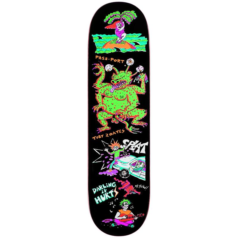 Pass Port x Toby Zoates Darling Skateboard Deck 8.25