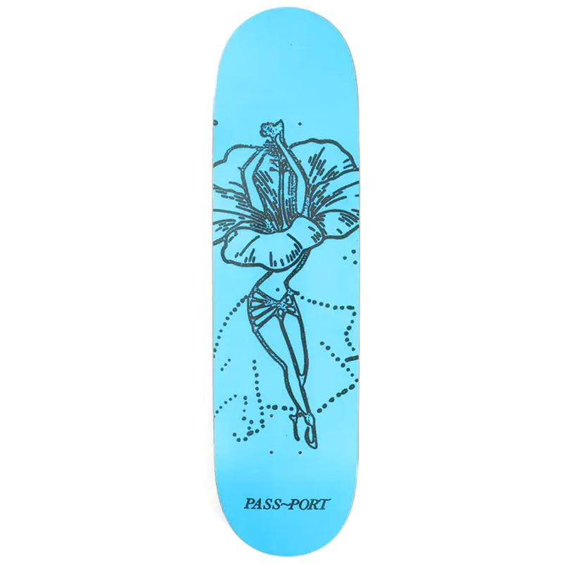 Pass Port Floral Dancers Hibiscus Skateboard Deck 8.38