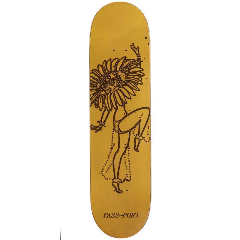 Pass Port Floral Dancers Sunflower Skateboard Deck 8.125