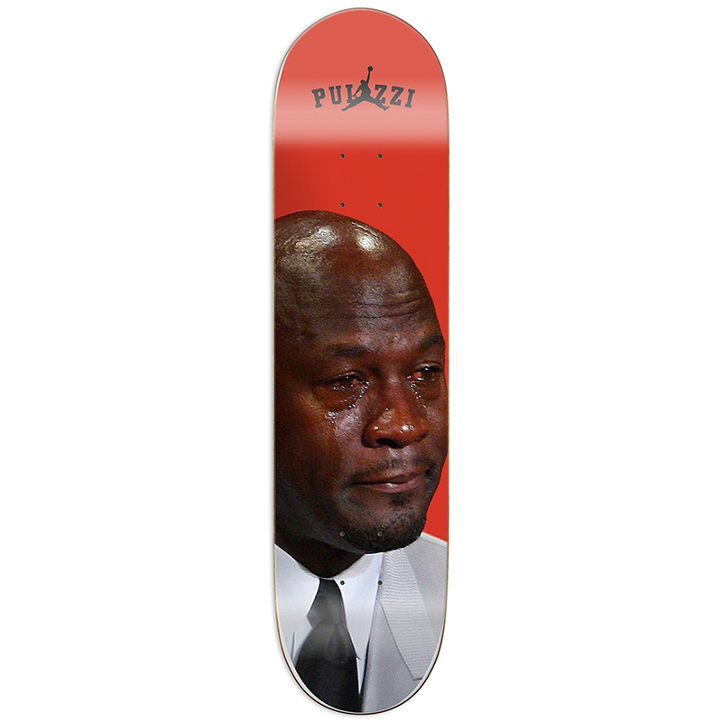 Pizza Crying Michael Pulizzi Skateboard Deck 8.18