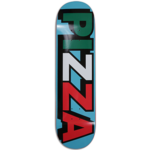 Pizza Tri Logo Skateboard Deck Blue 8.375
