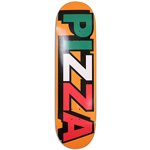 Pizza Tri Logo Skateboard Deck Orange 8.75