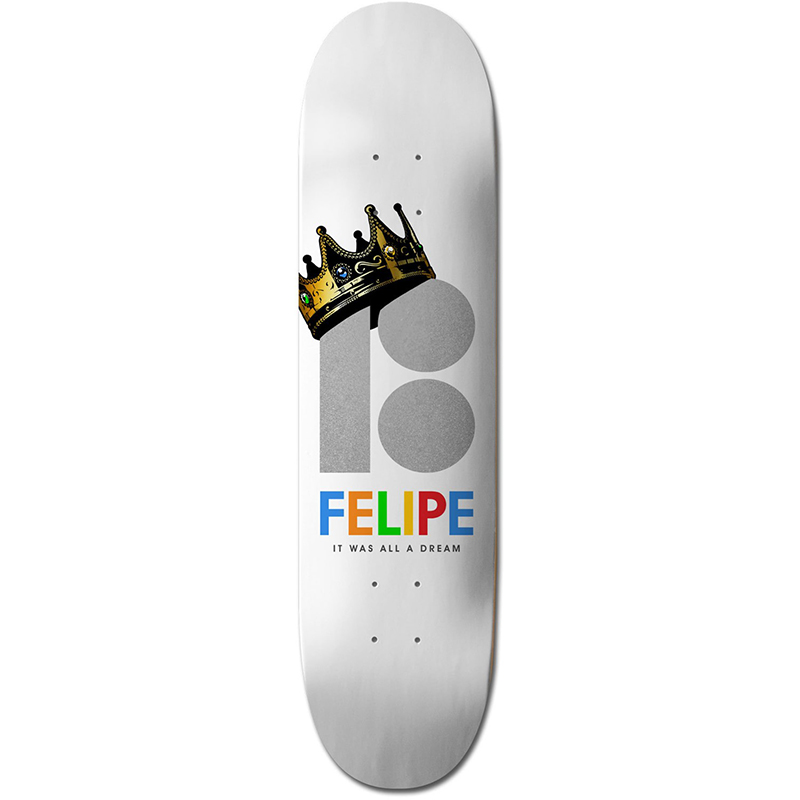 Plan B Felipe Royalty Skateboard Deck 8.25