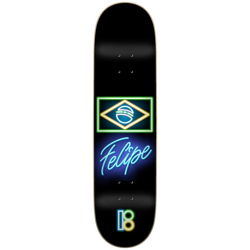 Plan B Neon Felipe Skateboard Deck 7.75