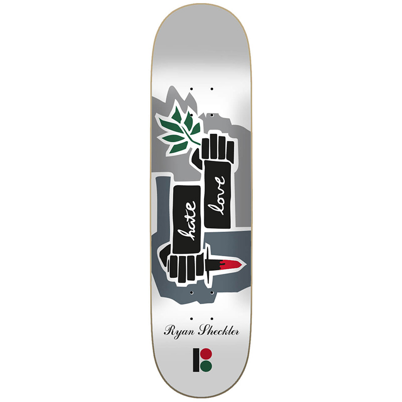 Plan B Sheckler Love Hate Skateboard Deck 8.0