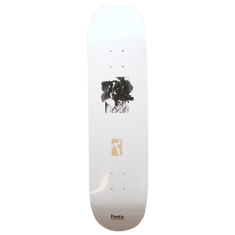 Poetic Passe Partout White Skateboard Deck 8.0