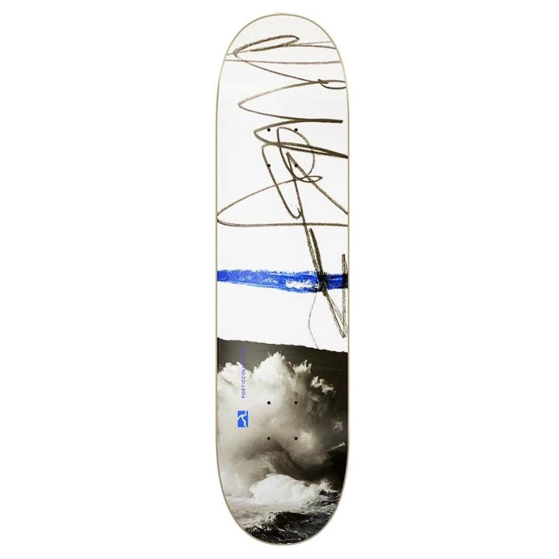 Poetic Sketch Cloudy Skateboard Deck 8.0