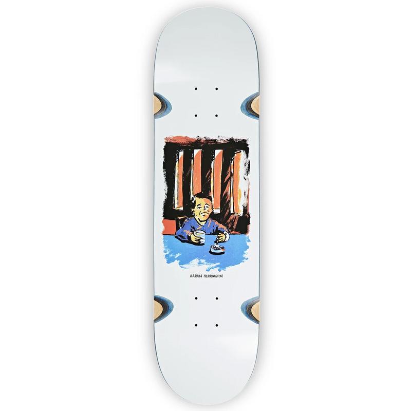 Polar Aaron Herrington Chain Smoker 2.0 Wheel Well Skateboard Deck White 8.25