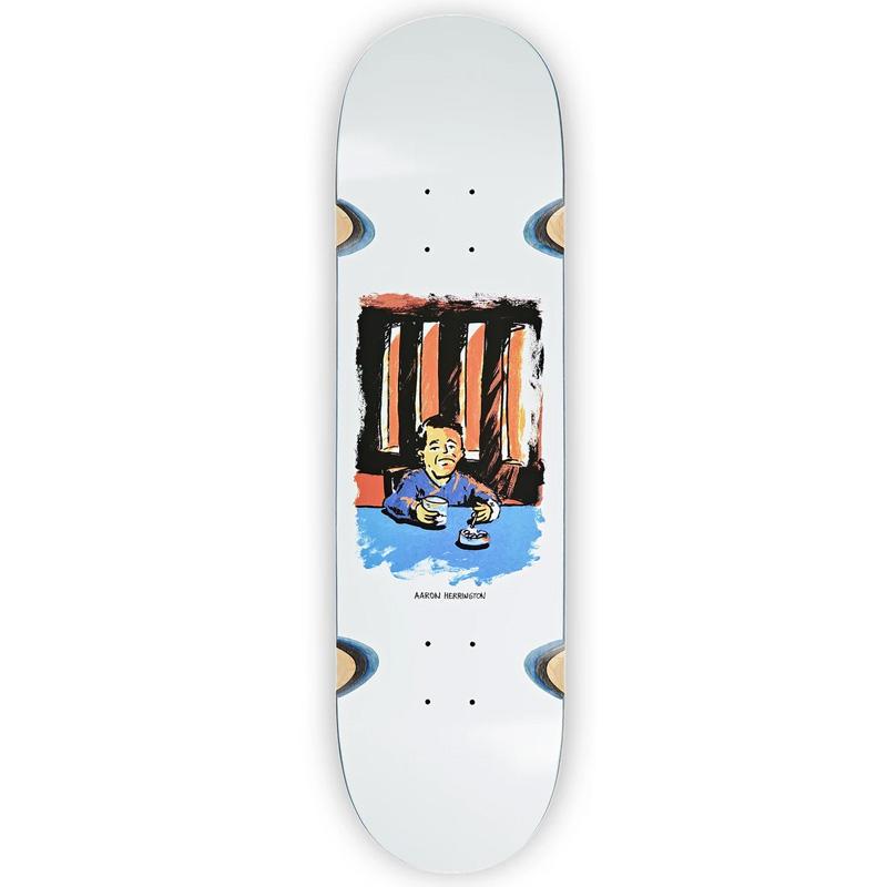 Polar Aaron Herrington Chain Smoker 2.0 Wheel Well Skateboard Deck White 8.5