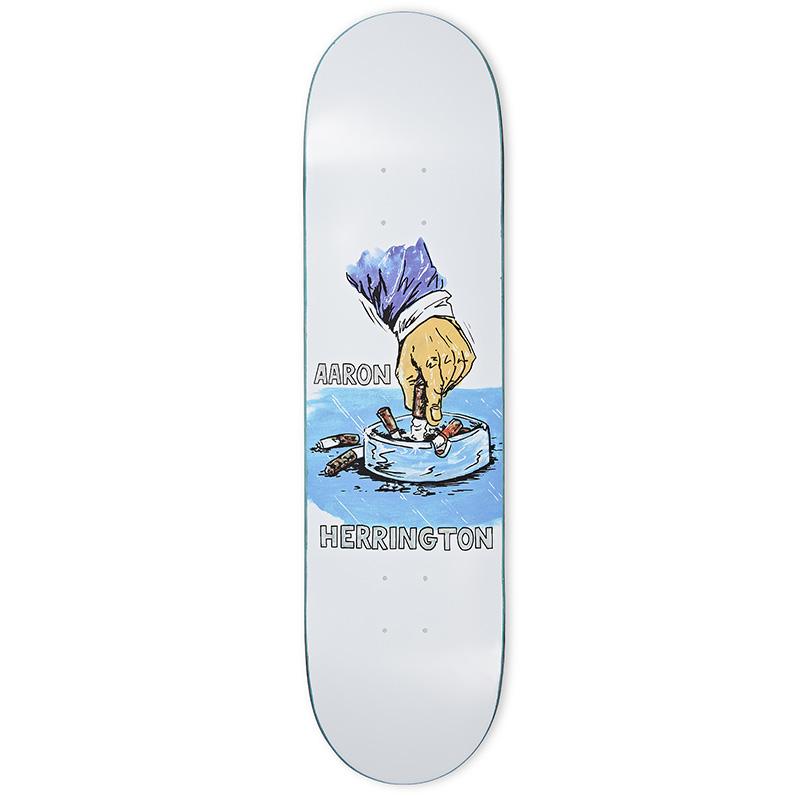 Polar Aaron Herrington Chain Smoker Skateboard Deck White 8.125