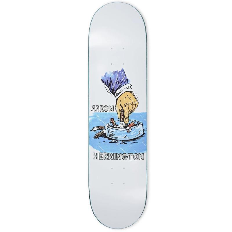 Polar Aaron Herrington Chain Smoker Skateboard Deck White 8.5