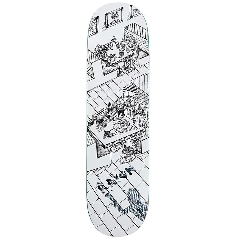 Polar Aaron Herrington Diner Skateboard Deck White 8.125