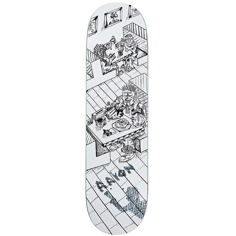 Polar Aaron Herrington Diner Skateboard Deck White 8.375