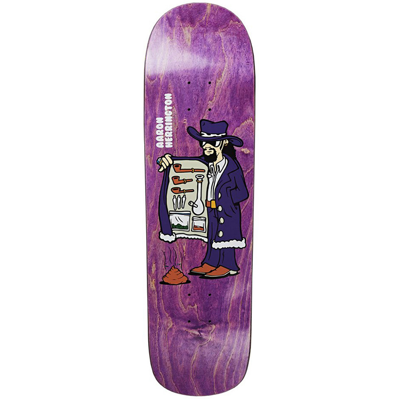 Polar Aaron Herrington Drug Pimp Skateboard Deck P8 Shape 8.8