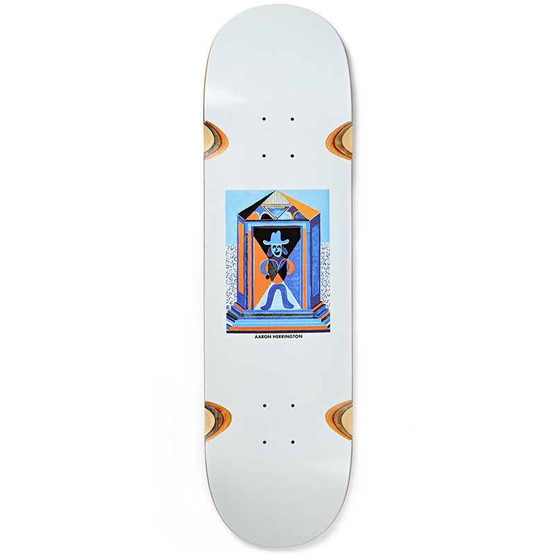 Polar Aaron Herrington Mausoleum Wheel Well Skateboard Deck White 8.5