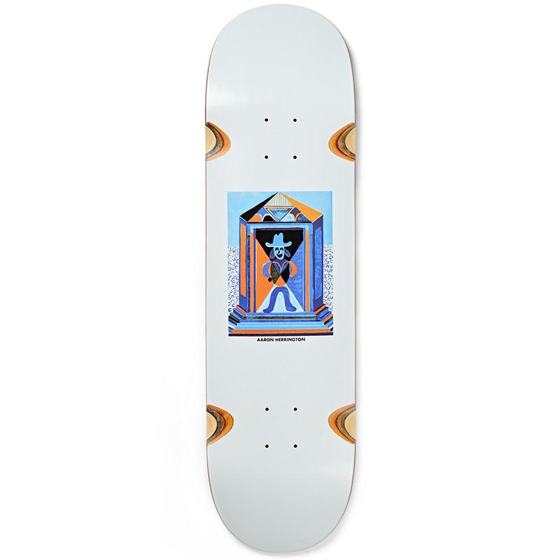 Polar Aaron Herrington Mausoleum Wheel Well Skateboard Deck White 8.625