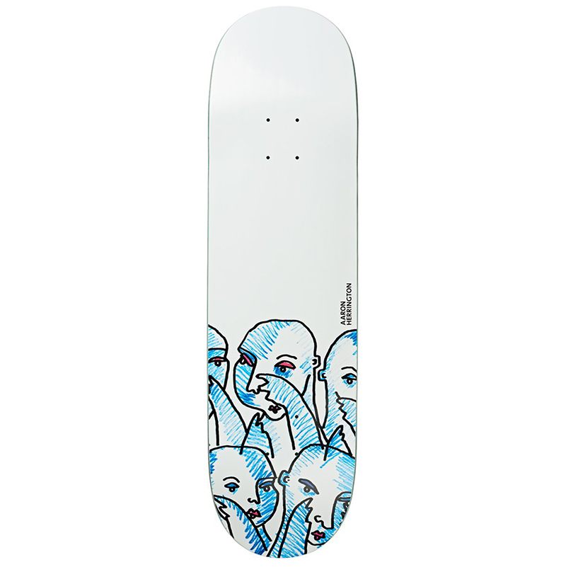 Polar Aaron Herrington Team Doodle Faces Part 2 Skateboard Deck 8.0