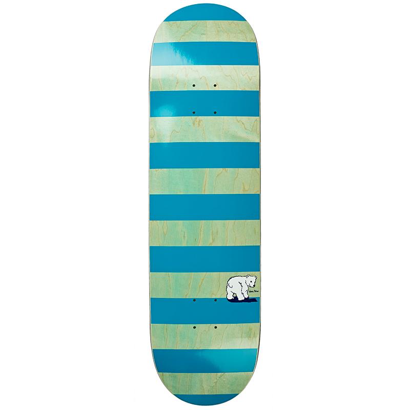 Polar Block Stripe Skateboard Deck Mint/Teal 8.25