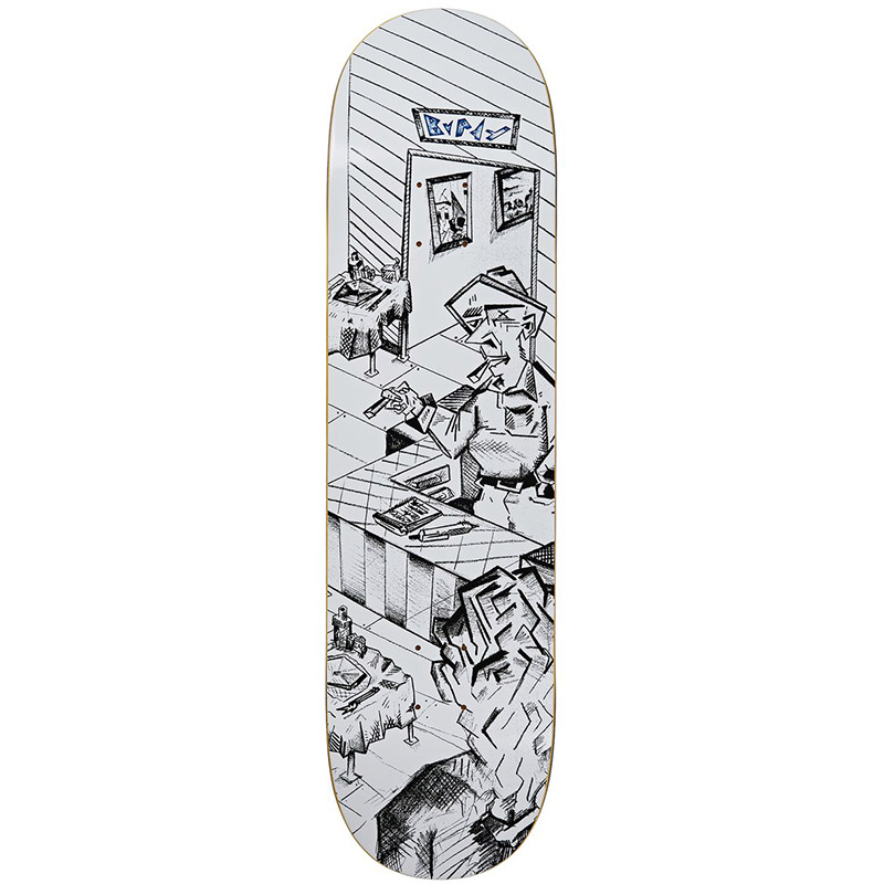 Polar Dane Brady Bistro Skateboard Deck White 8.25