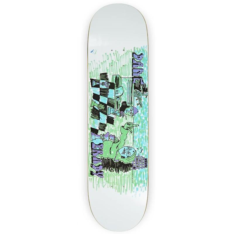Polar Dane Brady Checkmate Skateboard Deck White 8.0