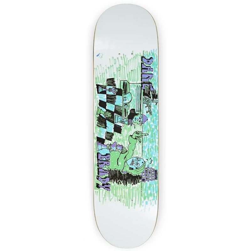 Polar Dane Brady Checkmate Skateboard Deck White 8.25