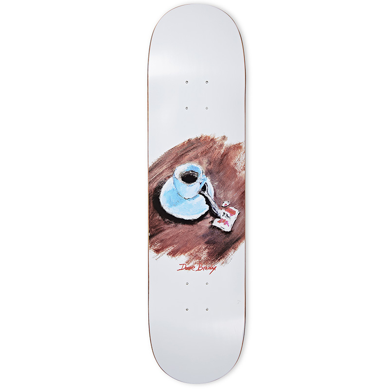 Polar Dane Brady Cimbalino Skateboard Deck White 8.0
