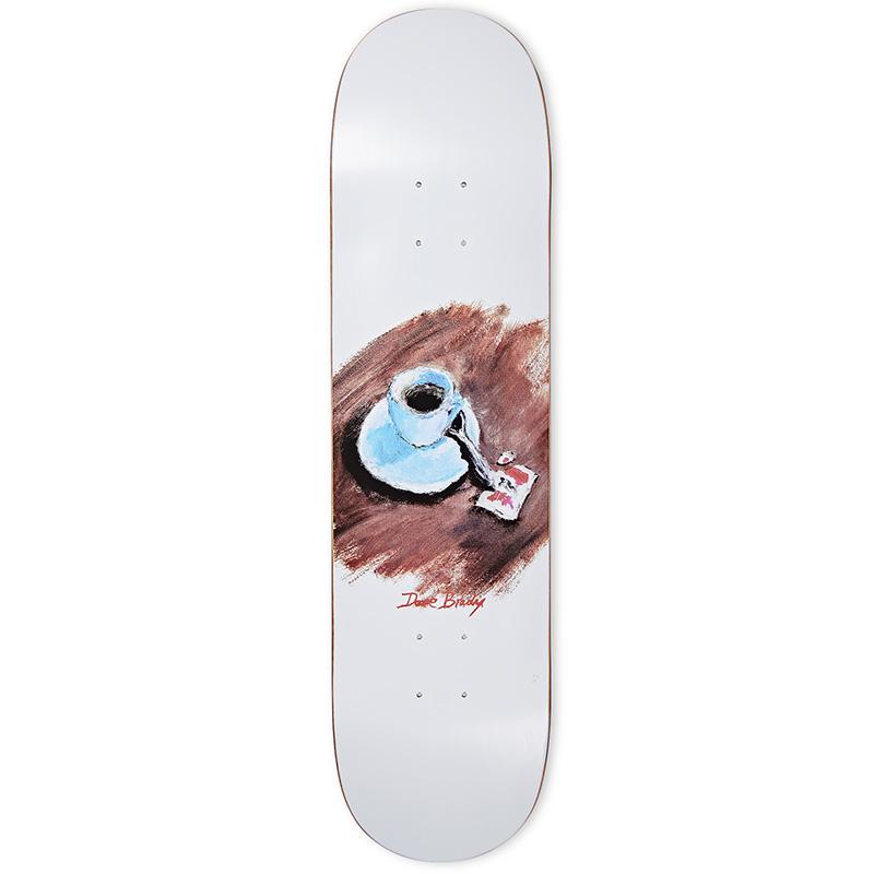 Polar Dane Brady Cimbalino Skateboard Deck White 8.375