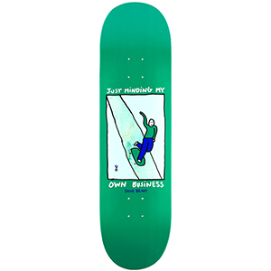 Polar Dane Brady Just Minding My Own Business Skateboard Deck Green 8.75