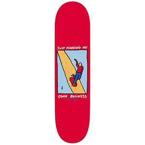 Polar Dane Brady Just Minding My Own Business Skateboard Deck Red 8.125