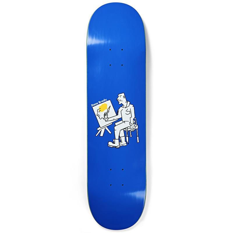 Polar Dane Brady Painter Skateboard Deck Blue 7.875