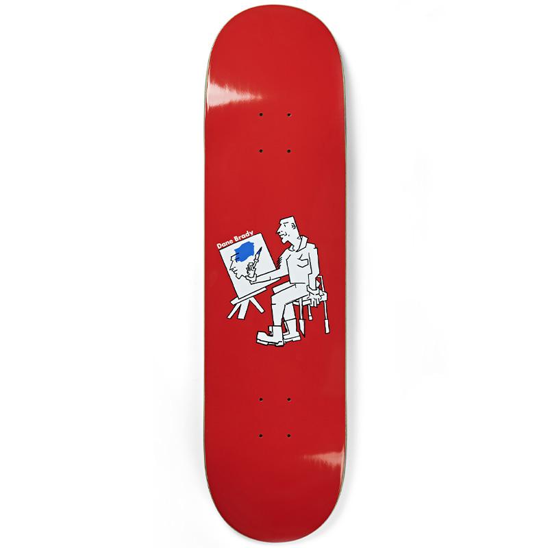 Polar Dane Brady Painter Skateboard Deck Blue 8.375