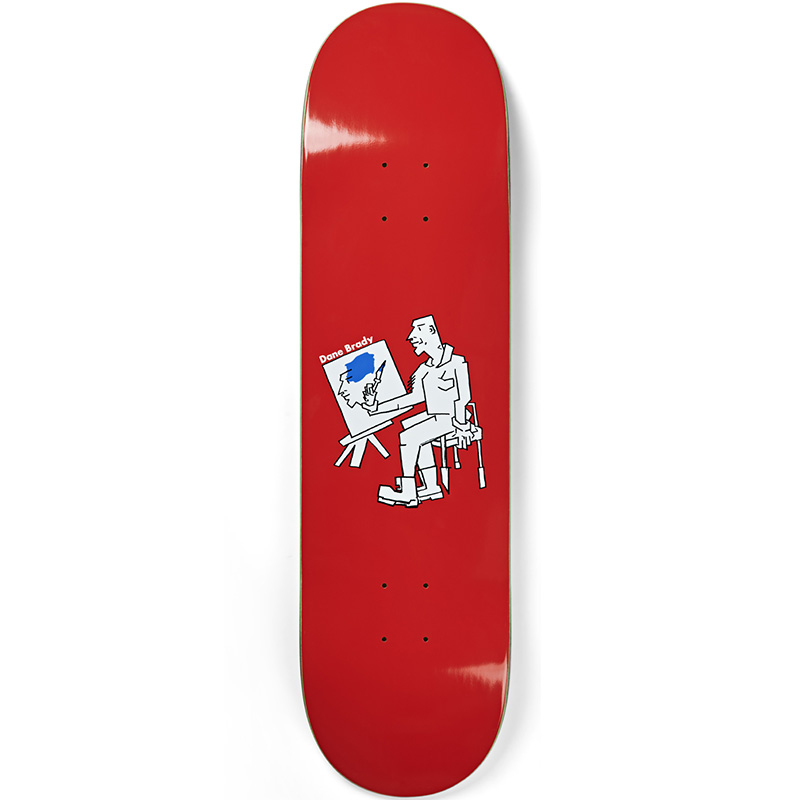 Polar Dane Brady Painter Skateboard Deck Red 8.0