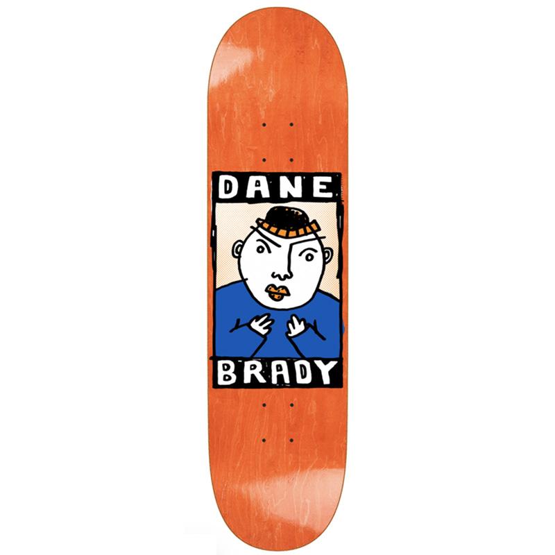 Polar Dane Brady Portrait Skateboard Deck 8.125